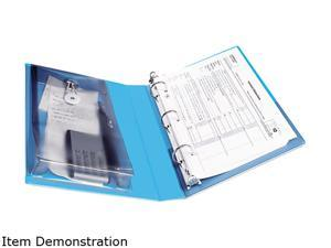"""Avery 23014 Protect & Store View Mini Binder, Round Ring, 5-1/2 x 8-1/2, 1"""" Capacity, Blue"""