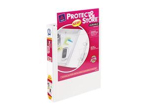 "Avery Protect & Store View Mini Binder, Round Ring, 5-1/2 x 8-1/2, 1"" Capacity, White"