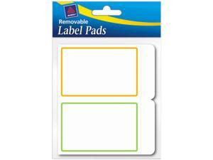 Avery 22019 Removable Label Pads, 2 x 3, Assorted, 80/Pack