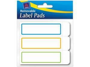 Avery 22014 Removable Label Pads, 1 x 3, Assorted, 120/Pack
