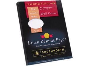 Southworth RD18BCFLN 100% Cotton Premium Linen Résumé Paper, 32 lbs., 8-1/2 x 11, Blue, 100/Box