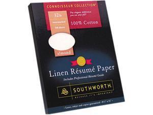 Southworth RD18ACFLN 100% Cotton Linen Résumé Paper, 32 lbs., 8-1/2 x 11, Almond, 100/Box