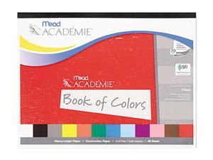 Mead 53050 Academie Book of Colors, Construction Paper, 18 x 12, Assorted, 48 Sheets