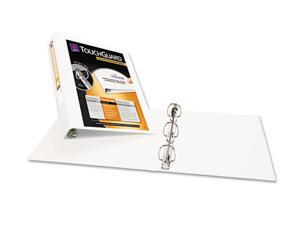 "Avery                                    Antimicrobial View Binder w/One-Touch EZD Rings, 1-1/2"" Capacity, White"