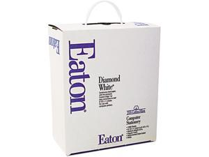 Eaton 35-520-10 25% Cotton Continuous Paper, White, 20lb, 9-1/2 x 11, Perforated, 100 Sheets