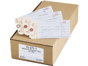 Avery 15371 Duplicate Inventory Tags, Bond Top Copy, 6 1/4 x 3 1/8, Manila/White, 500/Box