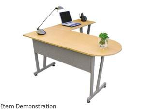 Linea Italia Massima Line L-Shaped Desk, 59-1/8w x 59-1/8d x 29-1/2h, Honey