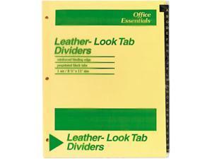 Avery 11483 Office Essentials Printed Tab Index Divider Set, 26-Tab, A-Z, Black, 26/Set