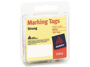 Avery 11014 Marking Tags, 1-3/32 x 3/4, White, 100/Pack