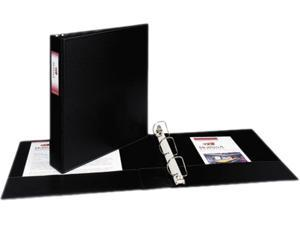 """Avery 08402 Durable Slant Ring Reference Binder With Label Holder, 1-1/2"""" Capacity, Black"""