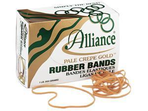 Alliance 21405 Pale Crepe Gold Rubber Bands, Size 117B, 7 x 1/8, 1lb Box