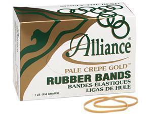 Pale Crepe Gold Rubber Bands, Size 33, 3-1/2 x 1/8, 1lb Box