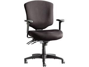 Alera Wrigley Pro Series WP42SFB10B (ALEWP42SFB10B)Mid-Back Multifunction Chair w/Seat Glide, Black