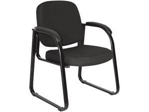 Alera Reception Lounge Series RL43CFA10B (ALERL43CFA10B)Sled Base Guest Chair, Black Fabric