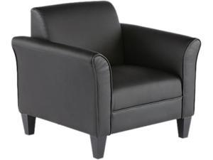 Alera Reception Lounge Series RL23LS10B (ALERL23LS10B)Club Chair, Black/Black Leather