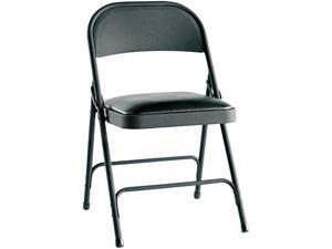 Alera Steel Folding Chair w/Padded Seat FC94VY10B (ALEFC94VY10B) Graphite, 4/Carton