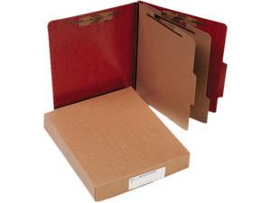 Acco 15006 Presstex 20-Point Classification Folders, Letter, Six-Section, Red, 10/Box