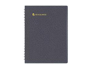 "AT-A-GLANCE                              Recycled Eight-Person Group Daily Appointment Book, Black, 8 1/2"" x 11"""