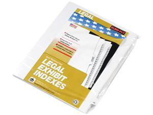 "Kleer-Fax 82248 80000 Series Legal Index Dividers, Side Tab, Printed ""48"", 25/Pack"