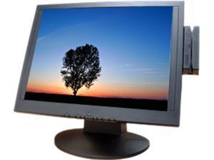 "Logic Controls LE1000M Black 15"" USB 5-wire Resistive Touchscreen Monitor"
