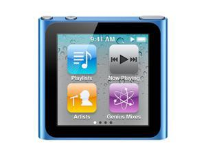 "Apple iPod nano (6th Generation) 1.54"" Blue 8GB MP3 Player MC689LL/A-R"
