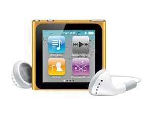 "Apple iPod nano (6th Generation) 1.54"" Orange 16GB MP3 Player MC697LL/A"