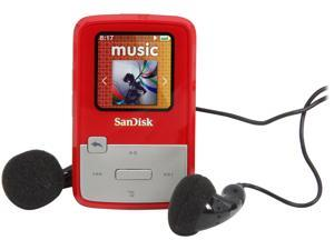 Sansa Clip Zip 4GB MP3 Player With microSD Slot, Red