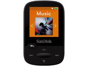"SanDisk Clip Sport 1.44"" 4GB MP3 Player - Black - SDMX24-004G-G46K"