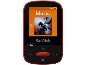 "SanDisk Clip Sport 1.44"" 4GB MP3 Player - Red - SDMX24-004G-G46R"