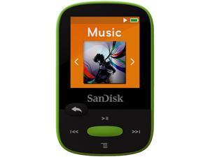 "SanDisk 1.44"" Lime 8GB MP3 Player SDMX24-008G-G46L"