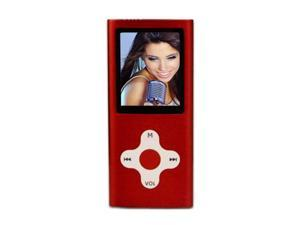 "Mach Speed Eclipse 1.8"" Red 4GB MP3 / MP4 Player 180RD"