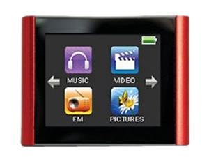 "Eclipse 1.8"" Red 4GB MP3 Video Player T180"
