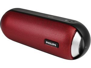 PHILIPS BT6000B/37 Splashproof Wireless Portable Speaker - Red