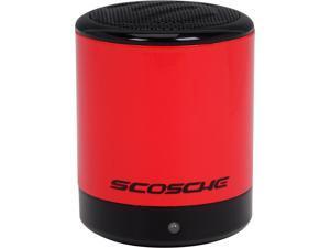Scosche boomCAN Bluetooth Compact Wireless Speaker - Red - BTCANRD