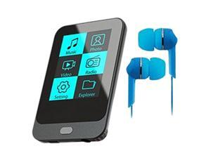 "Coby KIT NZ2367 KV8261 1.8"" 4GB Touch Screen Video MP3 Player with FM Radio and Blue Jammerz Moods Isolation Stereo Earphones ..."