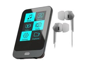"Coby KIT NZ2367 KV8266 1.8"" 4GB Touch Screen Video MP3 Player with FM Radio and Silver Jammerz Moods Isolation Stereo Earphones ..."