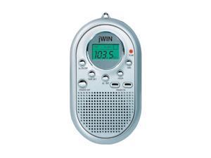 Jwin Mini AM/FM Pocket Radio & Alarm Clock (Silver) JX-M10SIL