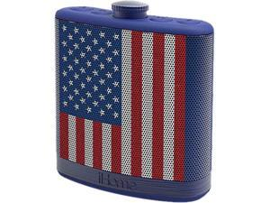 iHome iBT12AMFLXC Rechargeable Flask-Shaped Bluetooth Stereo Speaker with Custom Sound Case (Flag)