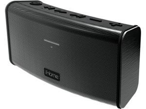iHome IBT33BC Rechargeable Splashproof Stereo Bluetooth Speaker with Speakerphone (Black)