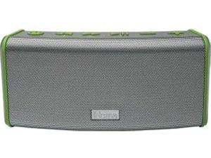 iHome IBT33GQC Rechargeable Splashproof Stereo Bluetooth Speaker with Speakerphone (Gray Green)