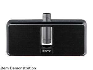 iHome iKN150BC Portable Rechargeable Bluetooth Stereo Speaker System with Speakerphone, NFC & Removable Battery Pack