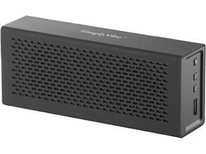 SimplyVibe V5-BT1-BLACK Bluetooth Speakers with Charge-out USB port for mobile devices