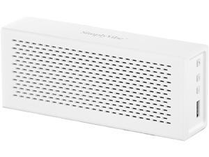 SimplyVibe V5-BT1-WHITE Bluetooth Speakers with Charge-out USB port for mobile devices