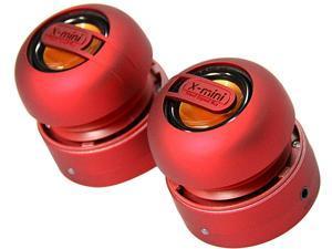 X-Mini MAX XAM15-R Portable Capsule Speaker System, Stereo, Red