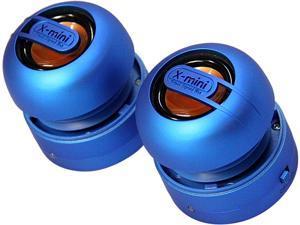 X-Mini MAX XAM15-BL Portable Capsule Speaker System, Stereo, Blue