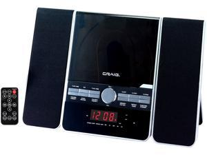Craig CD Shelf System with AM/FM Stereo Radio and Dual Alarm Clock, 3-Piece - CM427