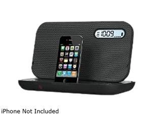 iHome IP49B Portable Rechargeable FM Speaker System for iPhone and iPod with Bongiovi DPS Technology