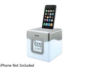 iHome IP18W LED Color Changing Dual Alarm Clock Speaker System for iPod/iPhone