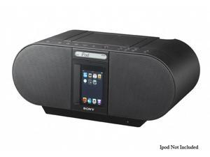 SONY - CD Boombox Compatible w/ most iPods, iPhones ZS-S4iPBLACK