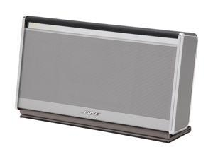 Bose® SoundLink II Wireless Mobile speaker SoundLink II® Wireless Mobile Speaker – Leather Silver Finish, Dark Brown Leather ...